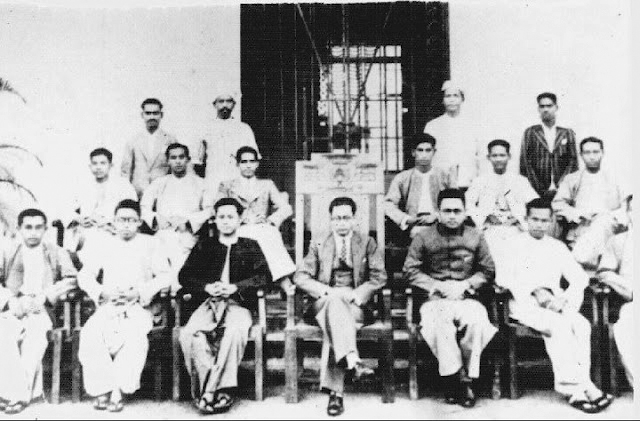 rangoon_university_students_union_committee_-_1936