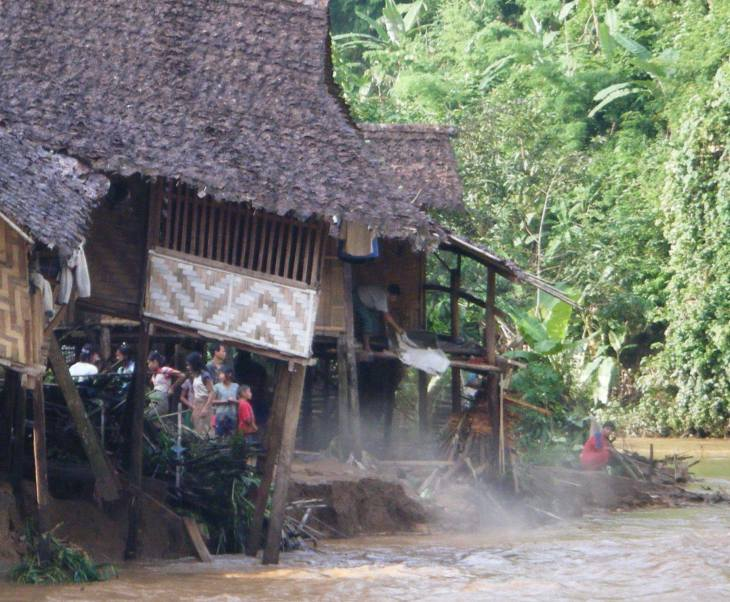 MAX 4 Karenni Site 2 aka Ban Mae Surin - House foundations dislodged from erosion_ flooding_Miles Jury