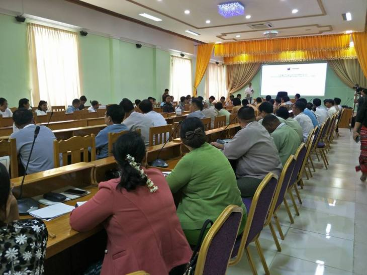 Mael and Thein Than Win image - 'Ministers and civil servants attend the introductory session about research project conducted by the Paññā Institute in Monywa, Sagaing Region'